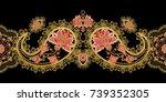 seamless pattern horizontal... | Shutterstock . vector #739352305