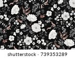 trendy seamless floral pattern... | Shutterstock .eps vector #739353289
