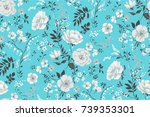 trendy seamless floral pattern... | Shutterstock .eps vector #739353301