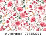 Stock vector trendy seamless floral pattern in vector 739353331