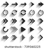 vector illustration of black... | Shutterstock .eps vector #739360225