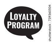 loyalty program. vector hand... | Shutterstock .eps vector #739360504