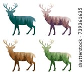 colorful styling deer for your... | Shutterstock .eps vector #739361635