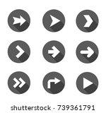 vector illustration of black... | Shutterstock .eps vector #739361791