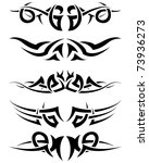 patterns of tribal tattoo for... | Shutterstock .eps vector #73936273