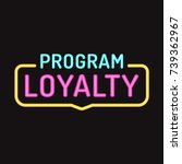 loyalty program. vector badge ... | Shutterstock .eps vector #739362967