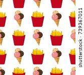 colorful cartoon fast food...   Shutterstock .eps vector #739367011