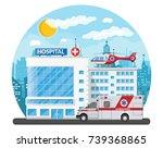 hospital building  medical icon....   Shutterstock .eps vector #739368865