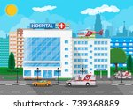 hospital building  medical icon.... | Shutterstock .eps vector #739368889