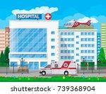 hospital building  medical icon.... | Shutterstock .eps vector #739368904