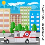 ambulance car. emergency... | Shutterstock .eps vector #739368919