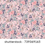 trendy seamless floral pattern... | Shutterstock .eps vector #739369165