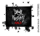 black friday sale. vector... | Shutterstock .eps vector #739370881