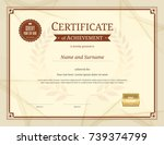 luxury certificate template... | Shutterstock .eps vector #739374799