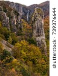 beautiful canyon vela draga in...   Shutterstock . vector #739376644