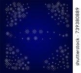 christmas snow powder frame or... | Shutterstock .eps vector #739380889