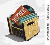 hip hop vinyl records storage... | Shutterstock .eps vector #739381519