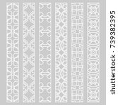 vector set of line borders with ... | Shutterstock .eps vector #739382395