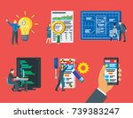 modern illustration of business ... | Shutterstock . vector #739383247