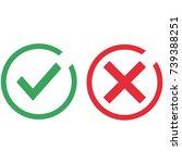 check mark icons vector... | Shutterstock .eps vector #739388251