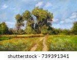 paintings landscape  oil...   Shutterstock . vector #739391341