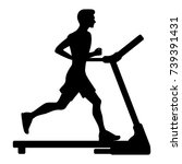 Silhouette Of Young Man Runnin...