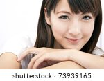 young and beautiful asian... | Shutterstock . vector #73939165