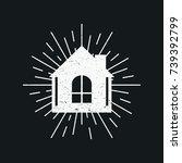 house vintage logo   Shutterstock .eps vector #739392799