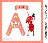 letter a uppercase cute... | Shutterstock .eps vector #739397035