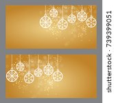 christmas and new year gift... | Shutterstock . vector #739399051