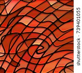 abstract vector stained glass... | Shutterstock .eps vector #739401055