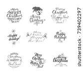 merry christmas lettering... | Shutterstock .eps vector #739402297