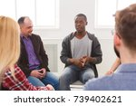 meeting of support group.... | Shutterstock . vector #739402621