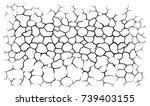 earth cracks or stone on white... | Shutterstock .eps vector #739403155