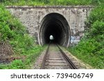 tunnel near the nine arches... | Shutterstock . vector #739406749