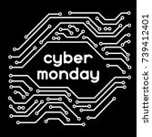 cyber monday sale background.... | Shutterstock .eps vector #739412401