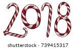 new year 2018 . winter card...   Shutterstock .eps vector #739415317