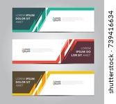 vector abstract design banner... | Shutterstock .eps vector #739416634