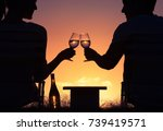 happy life moments. man and...   Shutterstock . vector #739419571