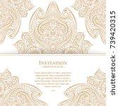 vintage greeting card. elegant  ...   Shutterstock .eps vector #739420315