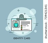 plastic identity card  id or... | Shutterstock .eps vector #739421341
