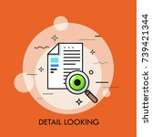 paper document  magnifying... | Shutterstock .eps vector #739421344