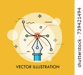 pen tool and bezier curve....   Shutterstock .eps vector #739421494