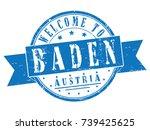 "rubber stamp ""welcome to baden  ...   Shutterstock .eps vector #739425625"