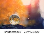 glass transparent ball  sphere  ... | Shutterstock . vector #739428229