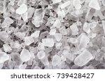 macro image of white salt... | Shutterstock . vector #739428427
