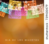 dia de los muertos  day of the... | Shutterstock .eps vector #739430479