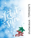winter background with red... | Shutterstock .eps vector #739433671