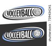 vector logos for volleyball... | Shutterstock .eps vector #739434241