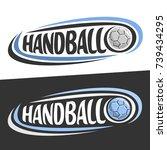 vector logos for handball sport ... | Shutterstock .eps vector #739434295